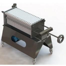 Filtro a cartoni con 40 piastre 20x20 - per frantoi fino a 200 kg ora